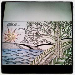 day 58 (Nadik25) Tags: art moleskine drawing doodle zen meditation 365 doodling zentangle zendoodling instagram zenstagram