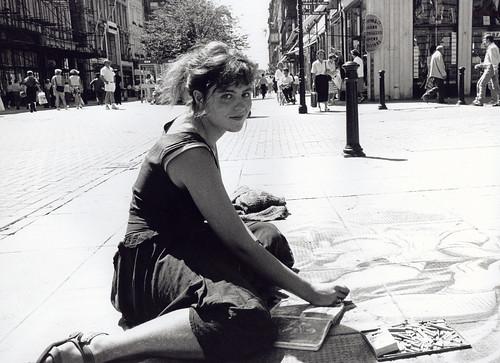Street Artist Buchanan Street 1990s