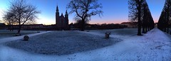 Rosenborg castle - iPhone panorama (IvanNaurholm - (+80K views - Thank you All)) Tags: blue winter sunset panorama snow cold love frozen vinter amazing frost mood clarity clean sne klar koldt kongenshavekingsgardenrosenborgrosenborgslot