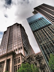 Collins Streetscape (The BigBlueCat) Tags: architecture melbourne reflectyourworld dramaticartfilter olympusxz1