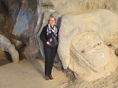 Fremont Troll (iagoarchangel) Tags: seattle vw bug volkswagen washington beetle troll aurorabridge adrienne fremonttroll