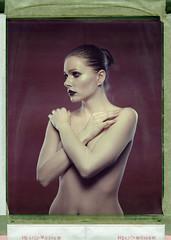 Alx '80s (Braca Nadezdic) Tags: color girl studio polaroid 8x10 sinar 809 polaroid809