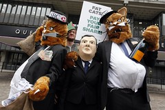 Bubbly and Cigars (Robin Hood Tax) Tags: ftt rht robinhoodtax hsbc banks bankers bonuses agm