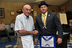 Howard Griffin with WM John Shaughnessy (Pewee Valley Lodge 829) Tags: mason masonry masonic peweevalleymasoniclodge peweevalley peweevalleymasoniclodge829 peweevalleylodge829 kentucky
