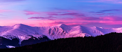 Morning mountains (oleksandr.mazur) Tags: adventure cloud cold color dawn day frost hill icecap inspire landscape light morning mountain nature outdoor pink range relax ridge scene shade sky snow snowcapped snowy sun sunlight sunrise travel vacation view winter