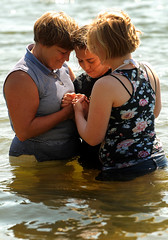 Baptised in the River (Poocher7) Tags: baptism baptismbyimmersion river forgiveness faith trust jesus ladies youth ready water expressionoffaith prayer peace joy clean love portrait candid people teenager teen repentanceandforgiveness repentance blondehair free happy cleaninside expression christian