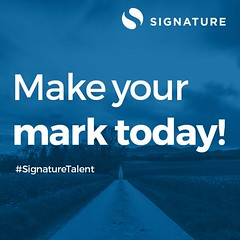 Start today and learn how to #MakeYourMark with Signature Inc. We're looking for motivated, passionate individuals who are ready for a challenge! #SignatureCareers (signatureincNJ) Tags: signatureincnet signature inc reviews cherry hill new jersey