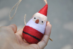 Christmas ornament, sata ornament, needle felted ornament (noristudio3o) Tags: christmas ornaments santa claus red white handmade noristudio needle felting needlefelting felted