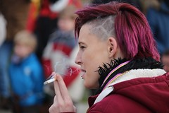 Smoke... (if you insist) Tags: exhale eurosmoke enjoyment candid cigarette smoking smoker tobacco nicotine addict happy pleasure