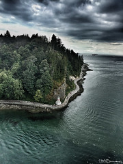 Prospect Point-2 (lens gazer) Tags: park vancouver stanleypark sea seawall trees tourism aerial clouds walkway