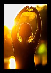 *Love* (Poocher7) Tags: sunset heart love bokeh orange yellow baseballhat ponytail prettygirl lovely pretty beautiful water portrait sweet