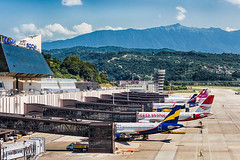 Sochi apron (denlazarev) Tags: aerspot2016 baselaero mountains caucasus russia runway clouds canon air aviation airline airplane airport aircraft airliner sky spotting fly photo plane lightroom    outdoor takeoff airbus sochi adler aer urss