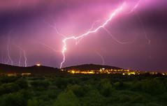Wild night (snowyturner) Tags: croatia storm rain lightning night sky trees murter thunder