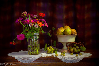 Still life of the changing seasons.