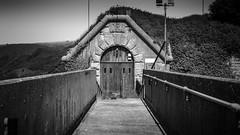 The back door into prison (Corbicus Maximus) Tags: portland dorset august 2016 d7000 nikon lightroom summer uk united kingdom prison door bill verne hmp fort
