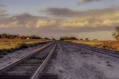 down the tracks towards McIntosh (Father Tony) Tags: canoneos50d canon canonefs1755mmf28isusm corsoncounty sd southdakota mcintoshsd landscape hdr adobephotoshopcs6 alienskinsexposure photomatrix prairie mcintosh unitedstatesofamerica