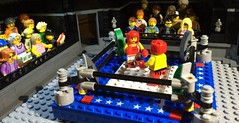 SPORTS! (Woodrow Village style) (woodrowvillage) Tags: lego moc legos minifigure mini figure sports boxing fight ring stadium build bricks boxer gloves america wrestling match bout champion fighter