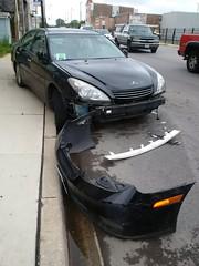 Smashed Lexus #2 (artistmac) Tags: chicago il illinois city urban street car automobile luxury lexus es sedan wrecked accident bumper facia canaryville 47thstreet