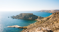Golden bays (lorenzoviolone) Tags: d5200 dslr fujiastia100f mountains nikon nikond5200 reflex rocks seascape vsco vscofilm bay bayes beaches cliff cliffside horizon sea seaside streetphoto streetphotocolor streetphotography travel:malta=aug2016 mgarr malta fav10 fav25