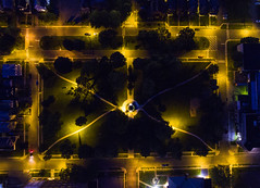 Evening Drone (Matt Champlin) Tags: drone drones aerial aerialphotography dji djiphantom4 phantom4 uav uas nightshots nighttime night eveningdronepictures 2016 syracuse ny new york city cityscape