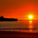 Container Frachter am Abend - Cargo ship in the evening