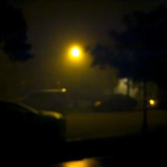night light (MyArtistSoul) Tags: oxnard ca night handheld street lamp fog cars urban square 12 iphone