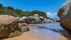 Baie de San Ciprianu (Corse, France) (christian.rey) Tags: sanciprianu saintcyprien poselongue longexposure nd1000 paysage seascape corsica rochers rocks mer sea sony alpha 77 1650