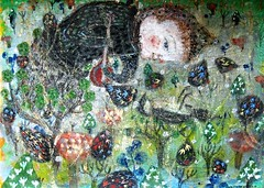 the only thing I can do for u (bettycat) Tags: artcolourflowerdoll angel tree painting drawing death poems colour chinese children china hk hongkong kyoto flower fineart black