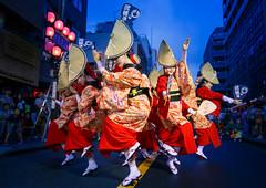 Nihoren Women's Performance in Blue Hour @ Mitaka Awaodori 2016 (Apricot Cafe) Tags: awaodori canonef1635mmf28liiusm japan mitaka mitakaawaodori nihoren tokyo dancing festival performance summer    mitakashi tkyto jp img648987