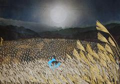 金色の草原2 - Gold Grassland2 (清水みのり - Artist) Tags: minori shimizu artist japanese japan art italia bologna wind 折り紙 京おりがみ 清水みのり 日本画 ススキ 薄 風 高原 黄金 月 満月 絵画 アーティスト アート 折り紙アート