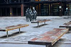 A wet day (Pat's_photos) Tags: london broadgate sculpture bench hss hbm