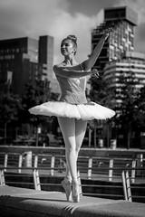 Grace (Sandy Sharples) Tags: grace elegance ballerina dancer female tutu city cityscape blackandwhite monochrome liverpool england ballet