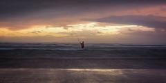 The Fisherman Pt II (Alex Wrigley) Tags: lakedistrictphotography lakedistrict coastalphotography beachphotography landscape landscapes seascape beach coast coastline waves ocean sea water fisherman fishing abstract sunset