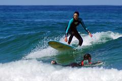 two is company (Curufinwe - David B.) Tags: beach sea mer mimizan landes aquitaine france sony a77 a77v sonyalpha77 sonydslta77v 400mm sigma plage waves wave surf surfing wetsuit girl girls woman feminine surfer surfgirl surfergirl surfcamp