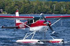 Private Cessna 180 Skywagon N291DC (jbp274) Tags: greenville greenvilleseaplaneflyin flyin 52b airplanes seaplane floatplane lake water cessna c180 skywagon mooseheadlake