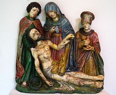 2016.02785a The Burrell Collection, 20 September 2016. Lamentation over the Crucified Christ. Early 16th C. (jddorren08) Tags: glasgow burrellcollection scotland fineart decorativearts embroidery needlework ceramics paintings sculpture tapestries armour glass neareasterncarpets orientalart rugs sirwilliamburrell sonyalphaa6000 sigma30mm daviddorren jddorren