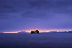 sunset 8855 (junjiaoyama) Tags: japan sunset sky light sun sunshine cloud weather landscape blue purple contrast colour bright lake island