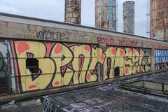 Bent, Nose (NJphotograffer) Tags: graffiti graff pennsylvania pa philadelphia philly abandoned building urban explore rooftop window bent nose