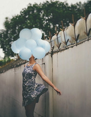 80/365 Head full of ideas; liberating. (itskatrinayu) Tags: balloons self portrait conceptual manipulation 365 project