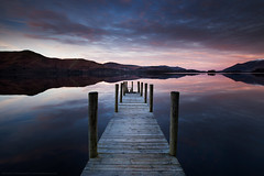 The Crack of Dawn at Ashness Jetty (awhyu) Tags: park lake water photography district jetty derwent andrew national cumbria yu keswick ashness