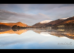 Grasmere dawn (Mike Ridley.) Tags: uk england sun sunlight colour water clouds sunrise canon landscape photography dawn grasmere lakedistrict canon1740mmf4lusm 06grad leefilters mikeridley canon5dmkll fellwalker1
