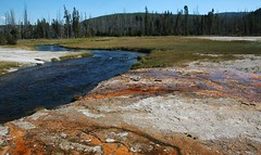Iron Spring Creek (James St. John) Tags: black creek spring sand iron basin upper yellowstone wyoming geyser