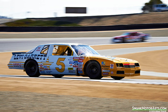california usa cars race vintage monterey nascar 1986 lagunaseca stockcar driven chevroletmontecarlo montereyhistorics 2012rolexmontereymotorsportsreunion haroldkunsman levigarret