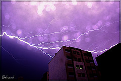 Ride the Lightning (Behzad No) Tags: blue sky storm night clouds dark alone iran live dream angry  fars  anawesomeshot nikond90   behzadno