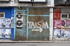 Taksim, Istanbul (new folder) Tags: turkey typography graffiti istanbul taksim cheguevara airconditioning rightarrow