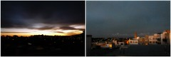 (giggie larue) Tags: sanfrancisco sky nature sunrise diptych fromtherooftop ingleside eastandwest giggie sfwinter2012