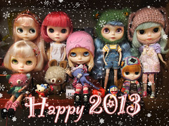 My girls wish you every happiness for the New Year ;)