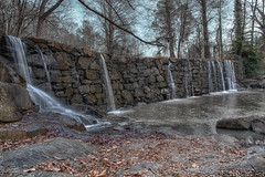 In Front of Old Mill Dam (BrianMoranHDR) Tags: park winter water burlington outdoors waterfall dam northcarolina alamance alamancecounty cedarockpark hdrsoft canon1740mml topazlabs niksoftware oldmilldam canon5dmarkii viveza2 adobephotoshopcs5extended denoise5 silverefexpro2 colorefexpro4 photomatixpro424 elmogazebo