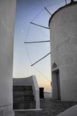 Crescent (andreasmyklebust) Tags: moon windmill crescent santorini greece oa canoneos450d