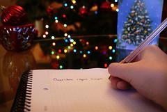 Queridos Reyes Magos... (mls2012) Tags: christmas arbol navidad luces bokeh mano postal bola libreta carta reyes magos boli escribiendo queridos